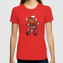 Italy! Pinocchio Eat Pizza and Ride Vespa T-shirt