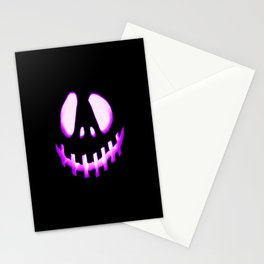 halloween. Jack O Lantern Purple Stationery Cards