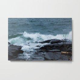 Great Lake Waves Metal Print