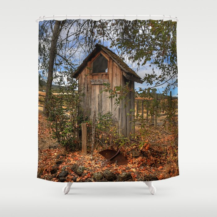 outhouse shower curtain by tlynn