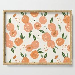 Apricots Pattern Serving Tray