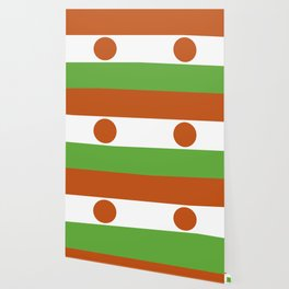 Nigerian flag African design for home decoration. Wallpaper