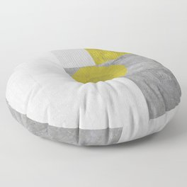 Modernist Distressed Floor Pillow