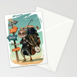 It is never too late to travel around the world Stationery Cards
