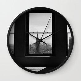 NY Window Wall Clock
