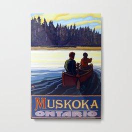 Muskoka Travel Poster Metal Print