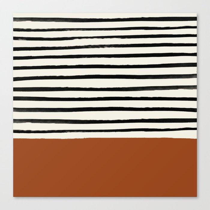 Burnt Orange x Stripes Leinwanddruck