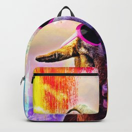 Rainbow Goat Wearing Love Heart Glasses Backpack