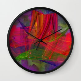 Village in rough weather Wall Clock