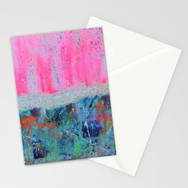 I WILL MEET YOU ON TOP OF THE MOUNTAIN - abstract expressionism original art Stationery Cards