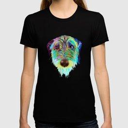 Splash Irish Wolfhound Dog T-shirt