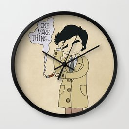 Columbo - Just One More Thing Wall Clock