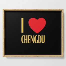 I Love Chengdu City Serving Tray