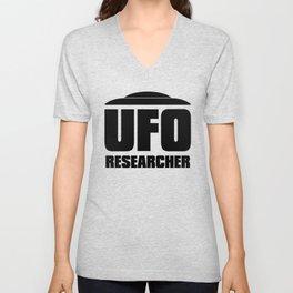 UFO RESEARCHER Unisex V-Neck