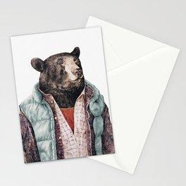 Black bear Stationery Cards