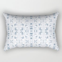 Arabidopsis thaliana (thale cress) root vacuole microscopy pattern blue Rectangular Pillow