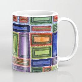 Melodic Rectangles Pattern Coffee Mug
