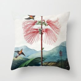Large Flowering Sensitive Plant The Temple Of Flora Throw Pillow