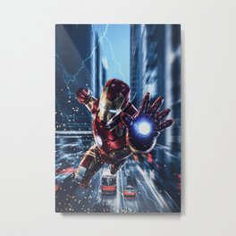 Avenged! Iron Man Metal Print