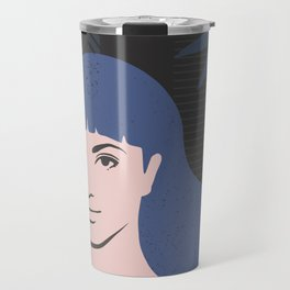 Blue Lady Travel Mug