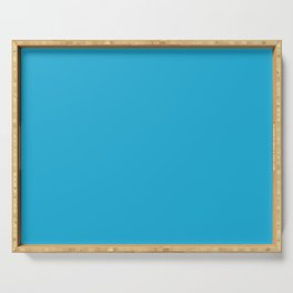 From The Crayon Box – Cerulean - Bright Blue Solid Color Serving Tray
