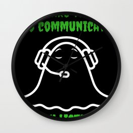 Ghost Hunt Gift Paranormal Investigator Halloween  Wall Clock