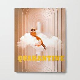 Quarantine woman Metal Print