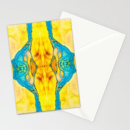 Epoxy River Tables - Montreal Sun Quad Stationery Cards