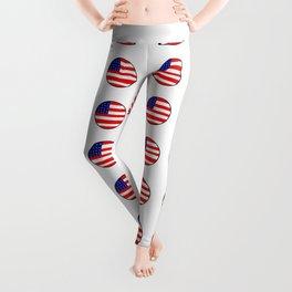 Flag of Usa in a polka dot. Leggings