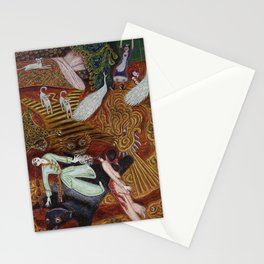 Crime of Passion (The Lovers Quarrel ) surreal portrait painting by Nils Dardel Stationery Cards