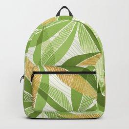 Modern Hawaiian Print III - with Metallic Accents Backpack