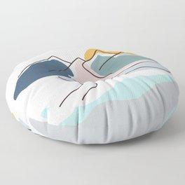 Minimalistic Landscape Floor Pillow