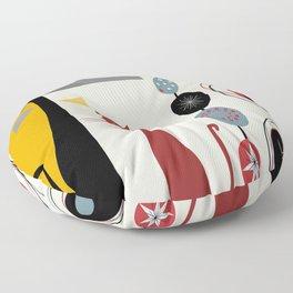 Mid-Century Modern Art Cats Floor Pillow