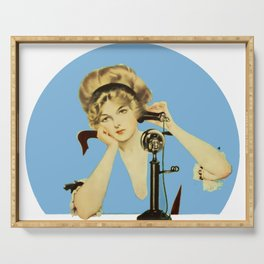 """C Coles Phillips 'Fadeaway Girl' """"Long Distance Call"""" Serving Tray"""