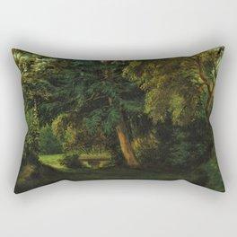 George Sand's Garden at Nohant - Eugene Delacroix Rectangular Pillow
