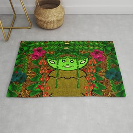Gnomelorian stand for happy rights in natures color pop-art Rug