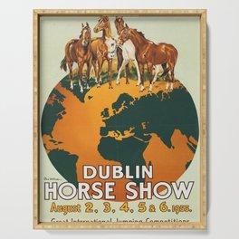 Vintage Dublin Horse Show Serving Tray