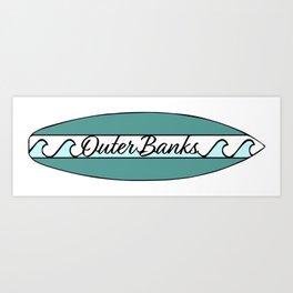 Outer Banks Logo Art Print