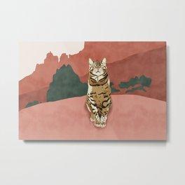 Wild nature cat Metal Print