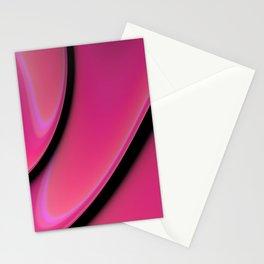 Deep Pink Minimalistic Fractal Design Stationery Cards