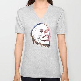 Dripping Skull Unisex V-Neck
