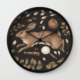 Rabbit's Garden Collection Wall Clock