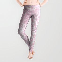 Pink Sky Mandala Leggings