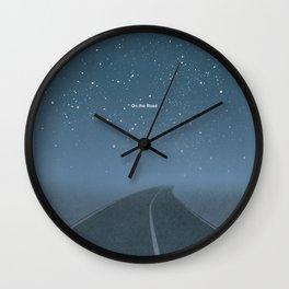 "Jack Kerouac ""On the Road"" - Minimalist literary art design, bookish gift Wall Clock"