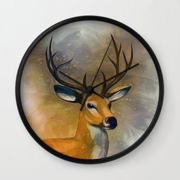 Deer Art Wall Clock