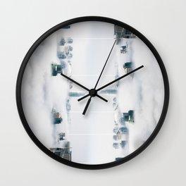 City surreal reflection Wall Clock