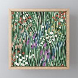 Windy Day In Garden Framed Mini Art Print
