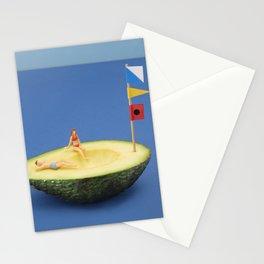 Avocado boat Stationery Cards