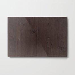 Wood texture brown choco aged Metal Print