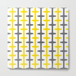 Geometric Pattern 209 (yellow gray) Metal Print